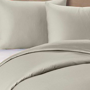 IBed Home Solid Bedsheets 3 Pieces Bedding Set - King size - grey fawn