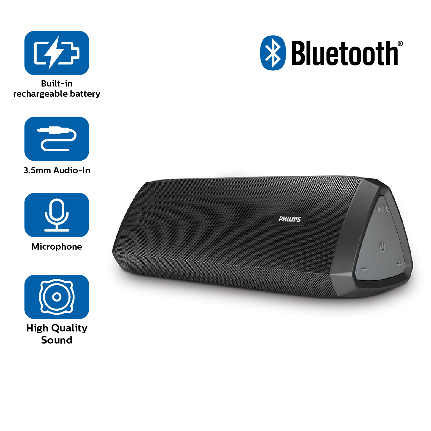 Philips BT120 Bluetooth Speakers (Black) Price: Buy Philips BT120 Bluetooth Speakers (Black