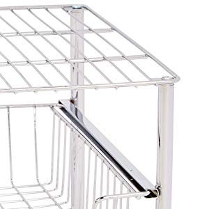 Amazonベーシック 積み重ね スライド式収納バスケット クローム