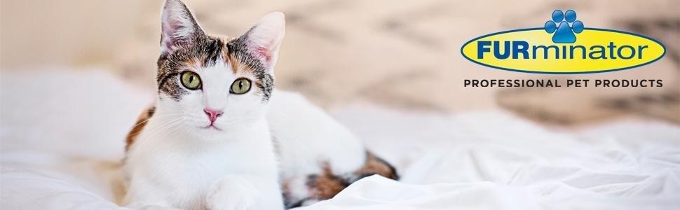 Furminator Herramienta de muda para Gatos Grandes de Pelo Largo L ...