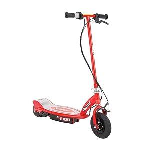 Razor E100 Scooter eléctrico, Hombre, Rojo, Talla Única