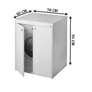 Negrari - Coprilavatrice 5012p móvil en resina al aire libre ...