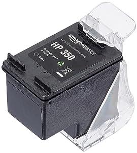 AmazonBasics - Cartucho de tinta regenerado, HP 350, negro