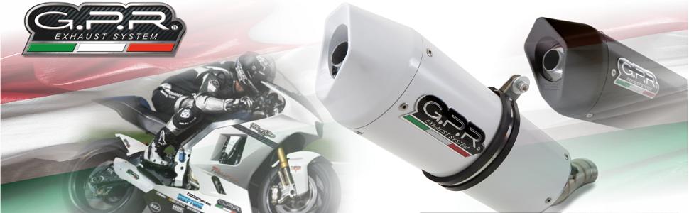 GPR Exhaust System GU.21.TRI Terminale Omologato con Raccordo Moto Guzzi Sport 1200 4V 2006//07 Trioval Scarico