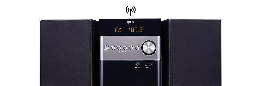 LG CM1560 - Microcadena (10 W, Bluetooth 4.0, USB), color negro ...