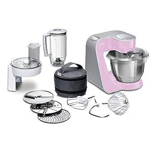 Bosch MUM54A00 900W - Robot de cocina, 3,9 L, 900 W, Negro/Plata/Blanco: Amazon.es: Hogar