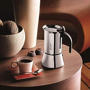 Bialetti Venus Cafetera Italiana Espresso por Inducción, Acero ...