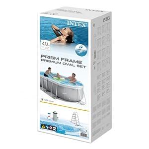 Intex 26794NP Piscina desmontable, con depuradora, 400 x 200 x 100 ...