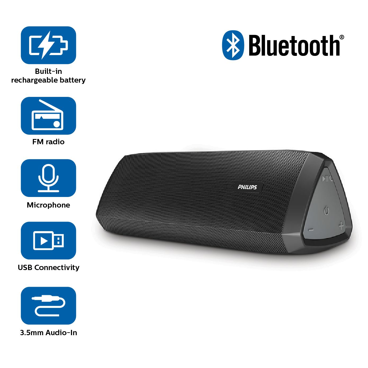 Philips Bluetooth Speaker Portable: Philips BT122/94 Wireless Portable Speaker: Amazon.in: Electronics