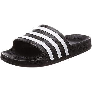 adidas Adilette Aqua, Unisex Adults Slides, Black (Core Black/Ftwr White/Core Black), 9 UK (43 EU)