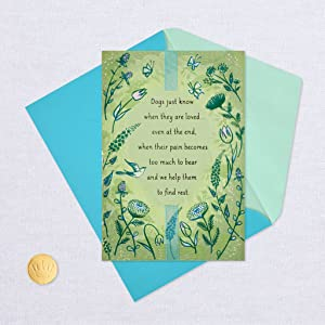 Handmade With Sympathy in the loss of your dog card made with a Hallmark program