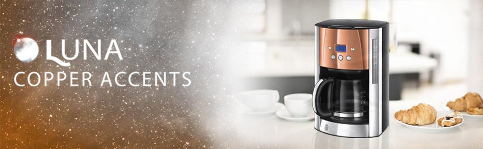 Russell Hobbs 1.8 L LUNA programmabile Filtro MACCHINETTA DEL CAFFE /'IN RAME 24320