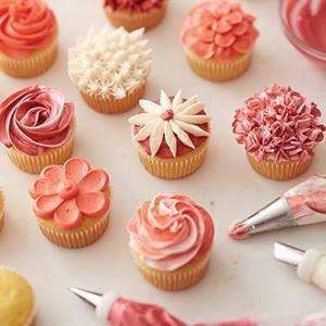 Wilton # 4569 Cake Muffins Decorating Baking Drop Flower Icing Nozzle Tips Set