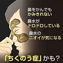 さまざまな不快な症状を引き起こす ちくのう症/副鼻腔炎(ふくびくうえん)