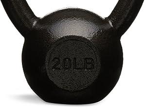 Amazon Basics cast iron kettlebells in multiple weights