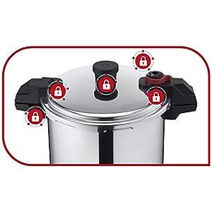 Tefal Pressure Cooker Secure Alu Xl 20.8L W/O Basket, P3115231, Aluminum, Silver