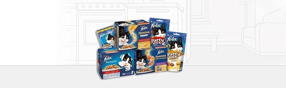 Purina Felix Party Mix Original Snacks, golosinas y chuches para ...