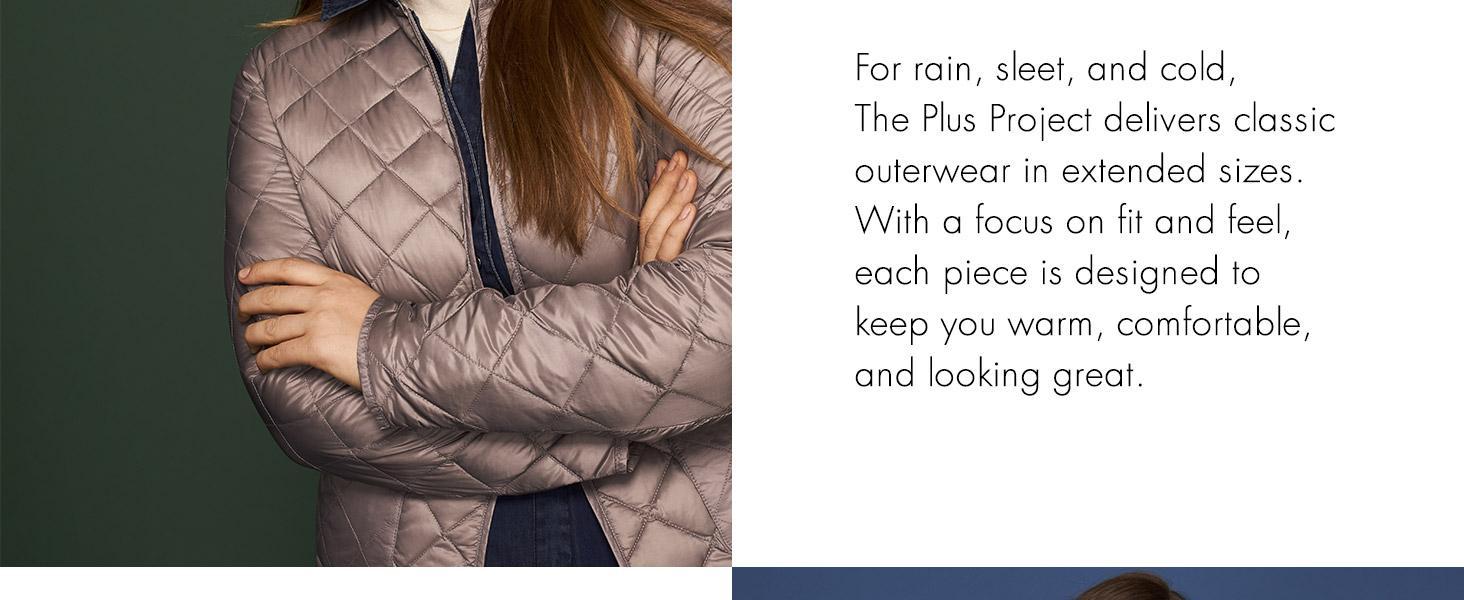 3721c564af5 Amazon.com  The Plus Project Women s Plus Size Quilted Long Coat ...