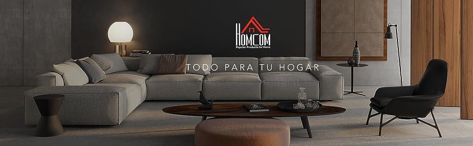 HomCom Perchero con Asiento Acolchado Estante para Zapatos y Colgador de Ropa - Negro - 72.5x35x180cm
