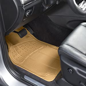 2007-2015 Premium Bootmat Connected Essentials CEB650 Car Mat Set for 2 Black with Blue Trim