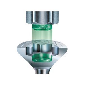 filetage partiel t/ête disque Spax 251010802205 Vis pour construction en bois T-Star Plus fraiseur 4CUT 8,0/x 220/mm 50/pi/èces protection anti-corrosion Wirox A3J