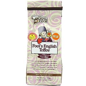 Fool's Decaf English Toffee