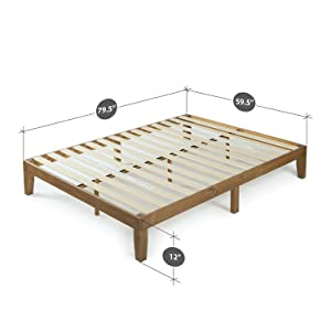 Amazon Com Zinus Alexia 12 Inch Wood Platform Bed No