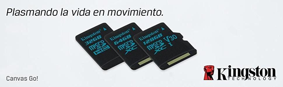 Kingston Canvas Go! SDCG2/32GB - Tarjeta MicroSD de 32 GB con Adaptador SD