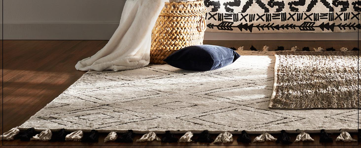 Size, global, plush, comfortable, natural, pattern, color, rugs, area rugs, wool, fiber, pile