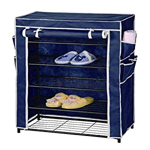 Wood Storage Shoe Rak, Blue, Sh 434