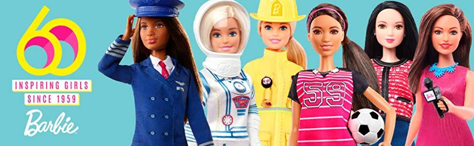 60th anniversary poupée gfx25 Barbie-You Can Be Anything-Pilote