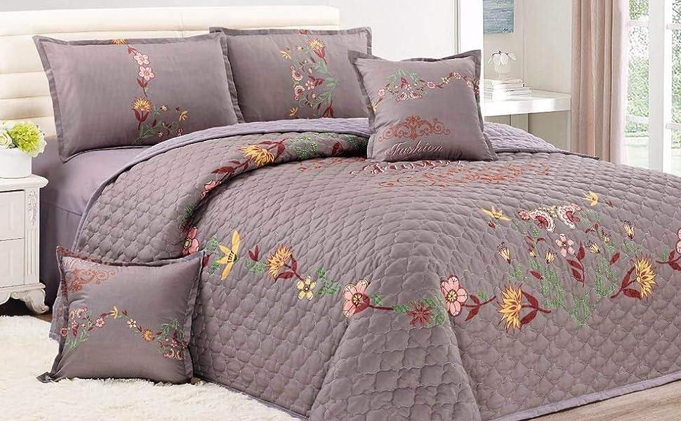 Floral Compressed 6Pcs Comforter Set