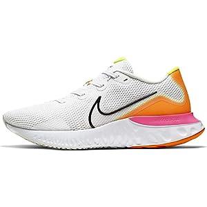 Nike Renew Run, Men's Road Running Shoes, White (White/Black-Platinum Tint-Pink Blast), 45 EU