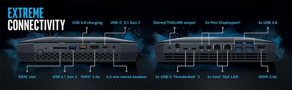 Intel NUC 8 Enthusiast mini PC Kit NUC8i7HVK with Radeon RX