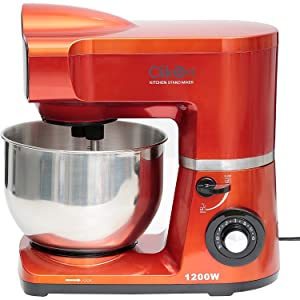 Clikon Stand Mixer 1200 Watts, 6 Speed, Steel Bowl - Ck2283, Stainless Steel Material