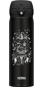 サーモス 水筒 真空断熱ケータイマグ 【ワンタッチオープンタイプ】 スターウォーズ 0.5L ダークブラック JNL-503SW DBK