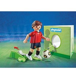 Playmobil Fútbol Jugador España 9517  Amazon.es  Juguetes y juegos e6641058380
