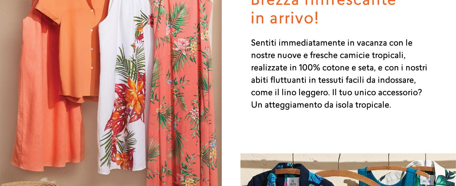 in 100/% seta motivo hawaiano Marchio Loose Fit vestibilit/à morbida 28 Palms camicetta da donna