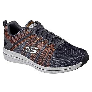 Skechers Burst 2.0-IN the MIX II, Zapatillas para Hombre, Gris (CCOR), 43 EU