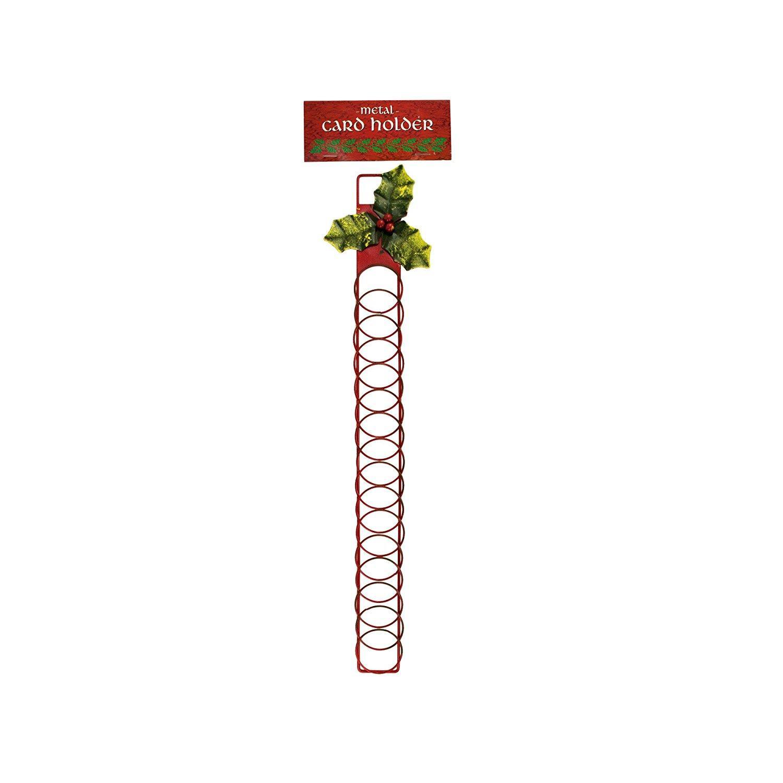 Amazon.com: bulk buys Decorative Metal Christmas Card Holder SA615 ...