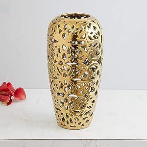 Home Centre Stellar Celestial Tall Carved Vase