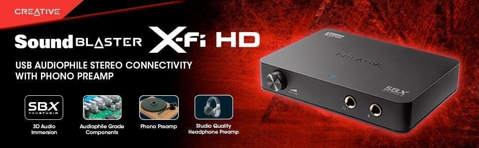 Creative Sound Blaster X-Fi HD - Tarjeta de Sonido Externa (USB, X ...