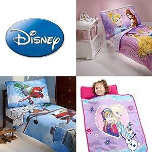 Amazon Com Disney Puppy Dog Pals 4 Piece Toddler Bed Set Blue Red