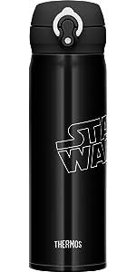 サーモス 水筒 真空断熱ケータイマグ 【ワンタッチオープンタイプ】 スターウォーズ 0.5L グロッシーブラック JNL-503SW GBK