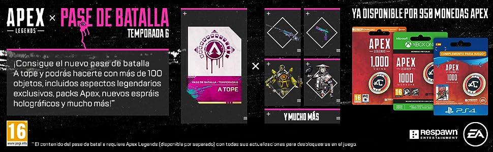 APEX Legends: 1,000 Coins (PSN Wallet Top-Up) | Código de descarga PSN - Cuenta española: Amazon.es: Videojuegos