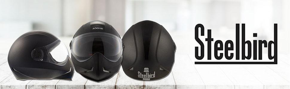 Steelbird 143453 Adonis Classic Full Face Helmet