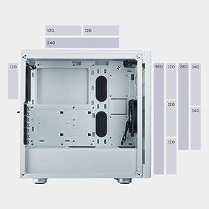 Corsair Carbide 275R Tempered Glass ミドルタワー型PCケース 強化ガラスモデル CS7223 CC-9011132-WW CS7224 CC-9011133-WW
