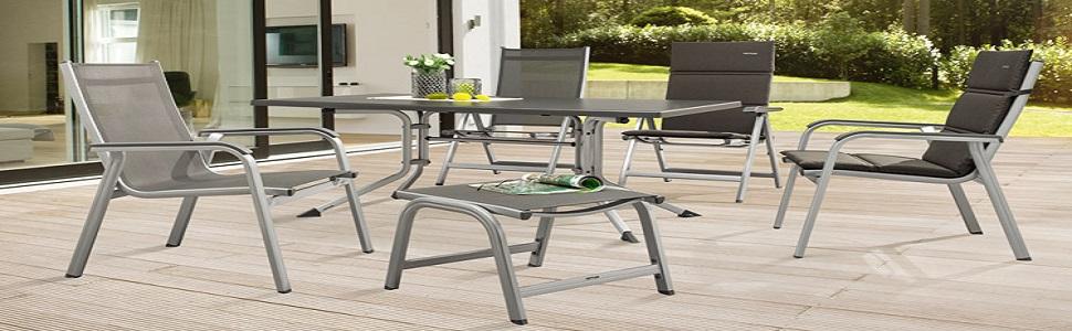 Kettler Basic Plus - Sillón plegable de aluminio, color plateado y antracita