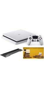 PlayStation 4 グレイシャー・ホワイト 500GB【Amazon.co.jp限定】アンサー PS4用縦置きスタンド 付&オリジナルカスタムテーマ 配信