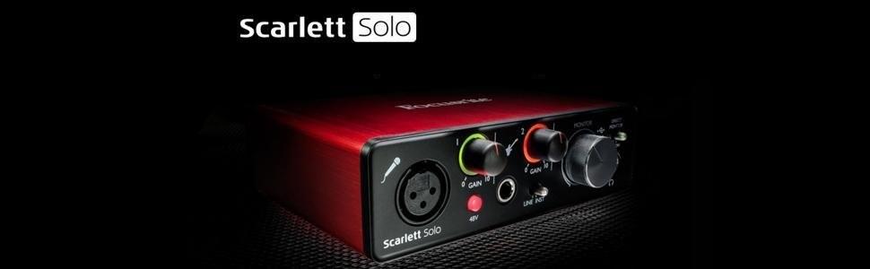 Focusrite Scarlett Solo (2 ° Gen) Padres.: Amazon.es: Instrumentos musicales